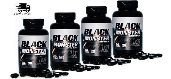 4 Tribulus Terrestris Black Monster Com Maca 1000 Mg Usa