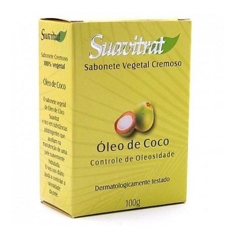 Sabonete Óleo De Coco 100% Vegetal 100g - Kit C/20 Unidades