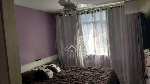 Apartamento Com 2 Dormitórios À Venda, 60 M² Por R$ 305.000,00 - Fonseca - Niterói/rj - Ap0371