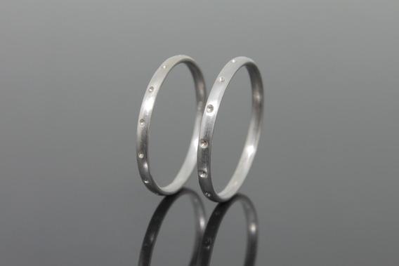Anéis Em Ouro Branco 18k (1235)