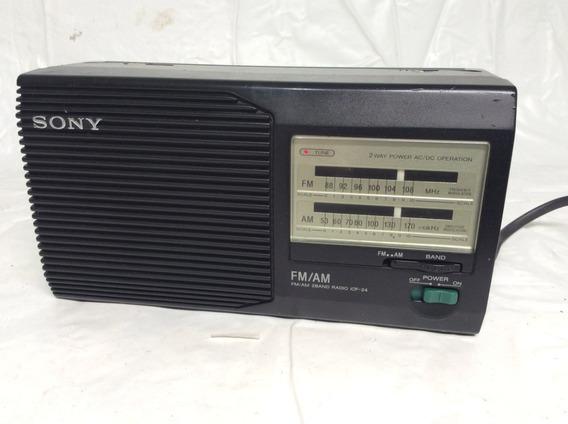 - Rádio Am Fm Sony Antigo - Liga Mas Não Tem Som, C/ Antena