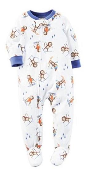 Pijama Macacão Com Pé Carters 2 A 5 Anos Menino Soft Fleece