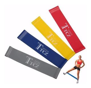 Faixa Elástica Crossfit Musculação Exercicios 4 Peças