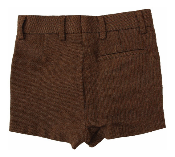 Roupas Para Estúdio Fotográfico:shorts Infantil Marrom