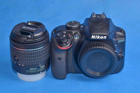 Câmera Nikon D3400 Com 2.890 Cliques!!!