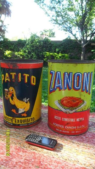 Lote Antigua Lata De Aceite Patito Y Zanoni