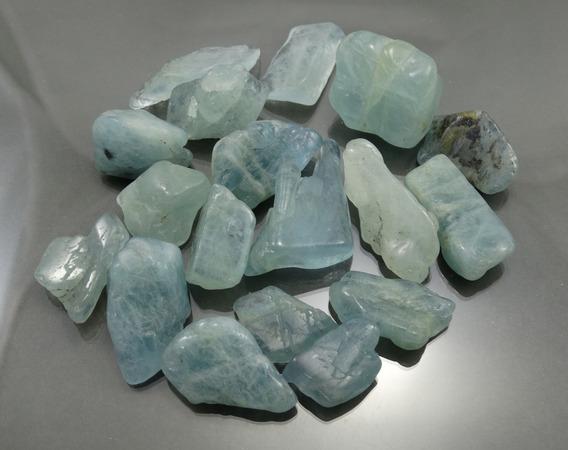 Agua Marinha Azul Polido 100 Grs Artesanato Decoração 2~3 Cm