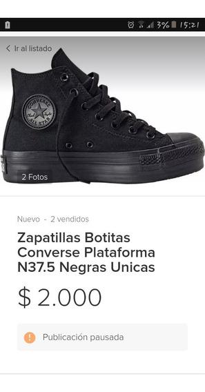 Zapatillas Converse Talle 35 Con Plataforma