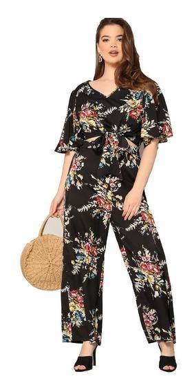 Tsuki Moda Japonesa: Set Blusa Top Flores Pantalon Casual