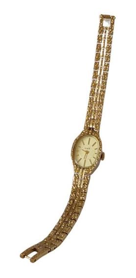 Relógio Usado Folheado A Ouro Russo Raro A Corda