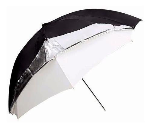 Imagen 1 de 3 de Sombrilla/paraguas Godox Dual Plateado/translucido 101 Cm