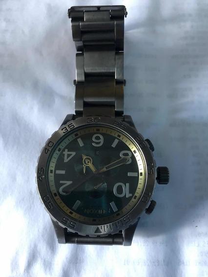Relógio Nixon 51-30 Chrono Simplify Verde Original