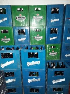 Cajones De Cerveza +12 Envases Vacíos De Quilmes Y Heineken