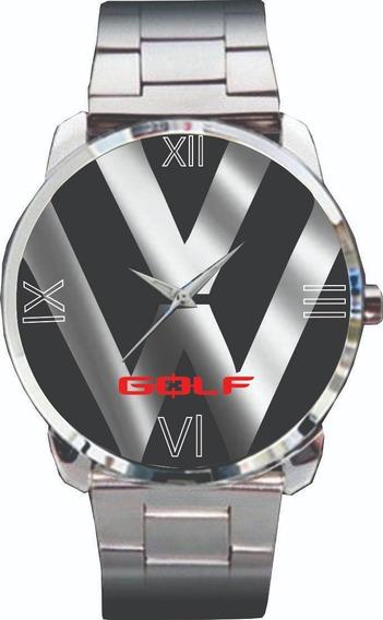 Relógio De Pulso Personalizado Emblema Golf Vw -cod.vwrp047