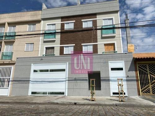 Cobertura Com 2 Dormitórios À Venda, 78 M² Por R$ 365.000,00 - Vila São Pedro - Santo André/sp - Co0898
