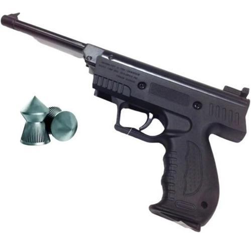 Imagen 1 de 5 de Pistola Aire Comprimido Red Target  Polimero 5.5mm + Balines