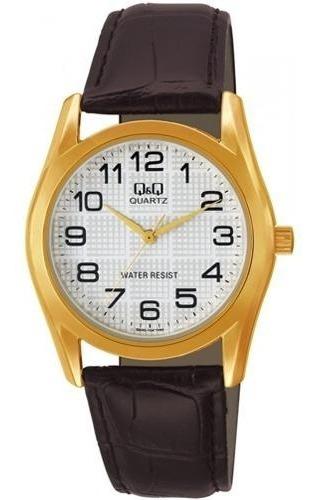 Relógio Analógico Q&q Q638j104y Masculino Pulseira De Couro