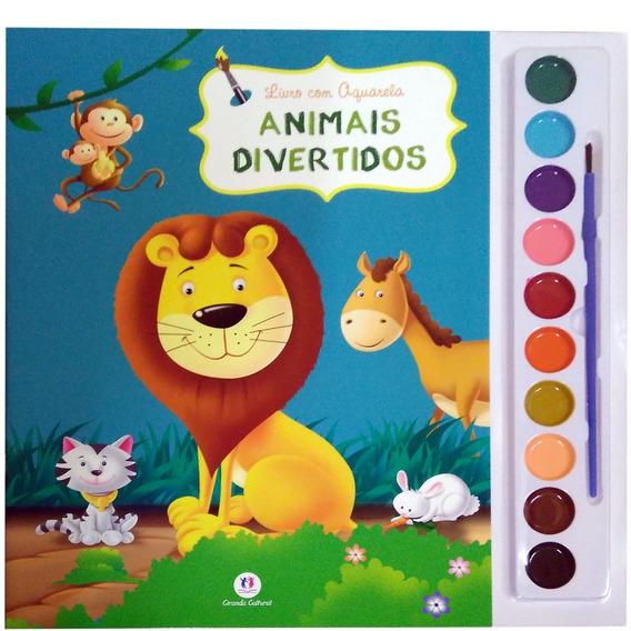 Livro Com Aquarela Animais Divertidos - Ciranda