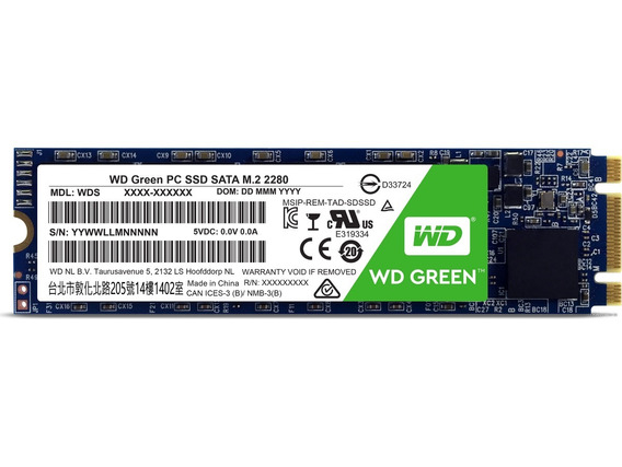 M.2 M2 240gb Hd Ssd Sata Wd Green 2280 Pc Note Novo Western