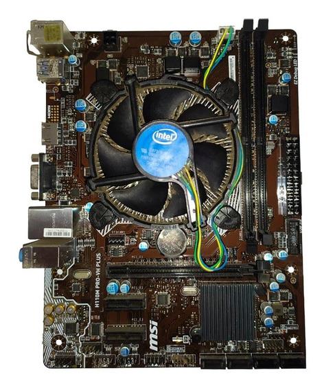 Kit Processador Pentium G4560 Kaby Lake + Msi H110m Pro-vh
