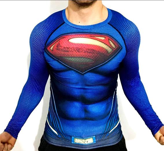 Playera Superman Batman Liga Justicia Dc Comics Licra
