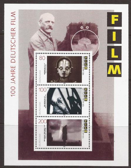 Alemania 1995 Bloque 100 Años Del Cine Aleman Mint - 071