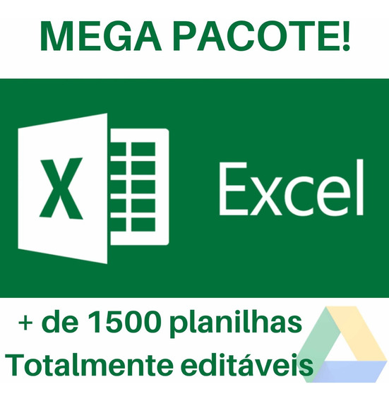 Mega Pack 1500 Planilhas Editáveis Excel!