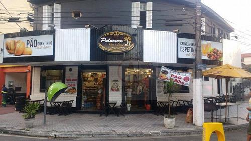 Imagem 1 de 2 de Ponto Comercial À Venda, Padaria Recém Reformada 250 M² Por R$ 600.000 - Macuco - Santos/sp - Pt0077