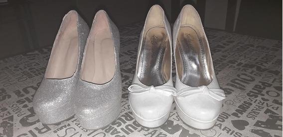 Dos Pares De Zapatos Para Casamiento, 15 Años. Muy Poco Uso.