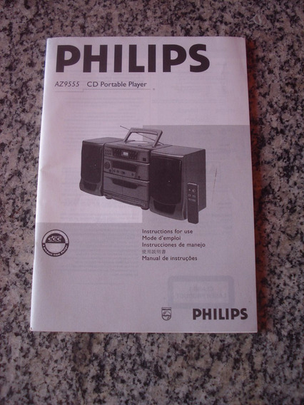 Manual De Instruções Philips Cd Player Az9555
