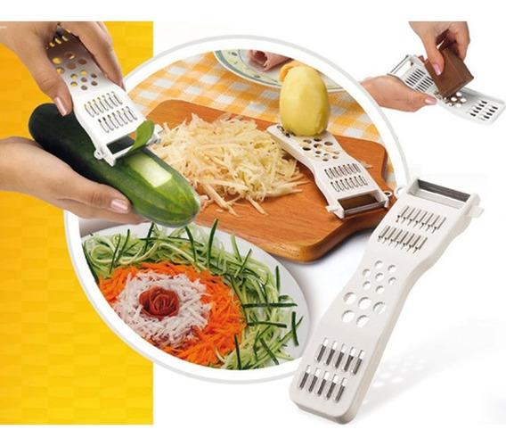 Descascador Ralador Fatiador Espaguete De Legumes Fruta 5em1