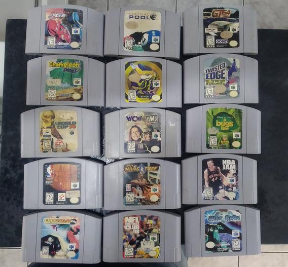 Lote 15 Cartuchos Nintendo 64 Fitas N64 Originais