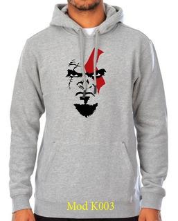 Sueter Sweater Kratos Con Capucha Caballeros Y Damas