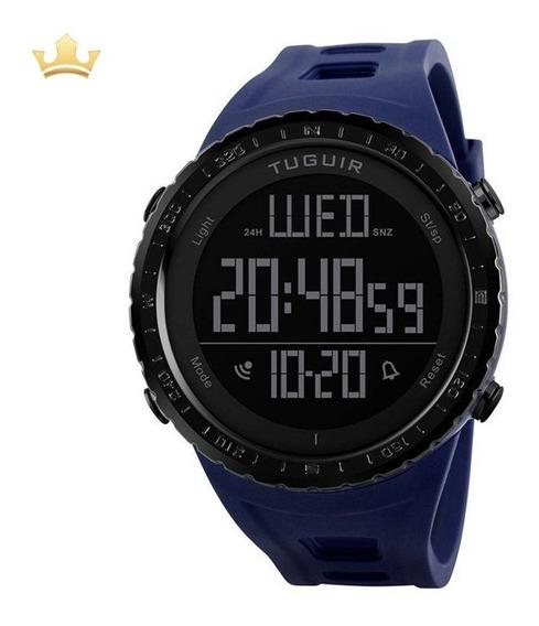 Relógio Masculino Tuguir Digital Tg1246 Azul Com Nf