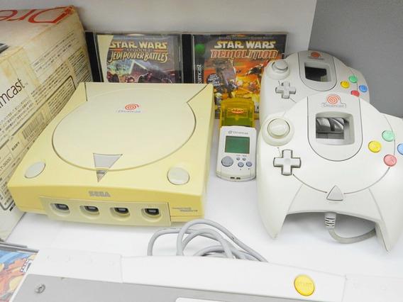 Dreamcast Combo - Console + 2 Controles + Jogos