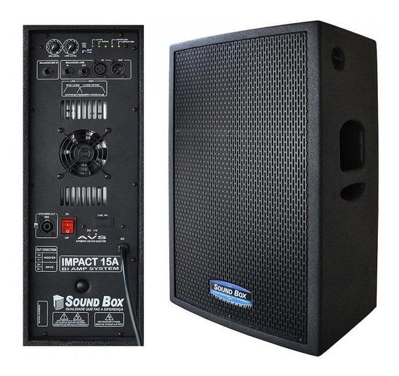 Caixa Ativa 700 Watts Biamplificado 15 Soundbox Impact15