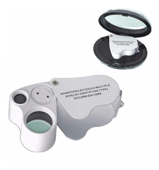 Lupa Aumento Doble Lente 60x 12mm - 30x 22mm Iluminacion Led