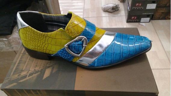 Sapato Social Masculino Envernizado, Solado Couro + Brinde