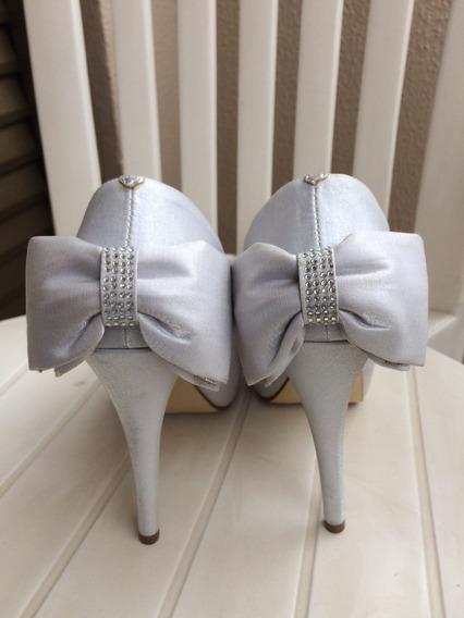 Sapato Prata Feminino De Festa Número 38