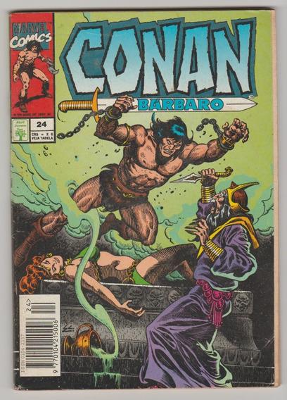 Conan, O Bárbaro N° 24 - Formatinho Raro!!! Bom Estado!!!