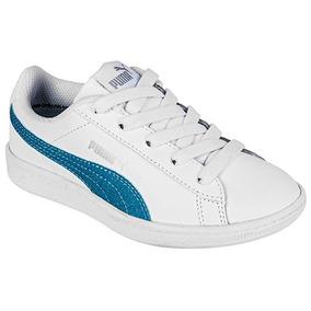 Puma Vikky Glitz Ac Inf 366720-01 Blanco Azul Pv