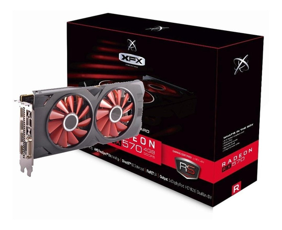 Placa De Video Rx 570 4gb Xxx Ed Oc+ Ddr5 256bits 1284mhz