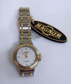 Relógio Magnum Analógico Caixa E Pulseira Em Aço Mista