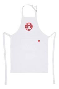 Avental Master Chef Original 100% Algodão Branco Ou Preto