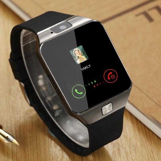 Kit 1 Relógio Inteligente Dz09 + 1 Mini Fone Bluetooth