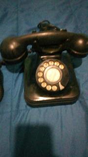 Telefono Antiguo De Coleccion Negro En Buen Estado
