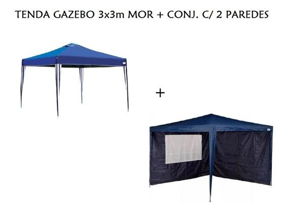 Gazebo Tenda Articulado Mor Sanfonada 3x3 + 2 Paredes