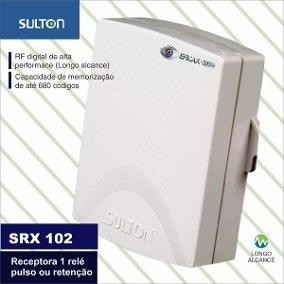Receptora Sem Fio 1 Reles Sulton Srx 102 Ligar Motor Lampada