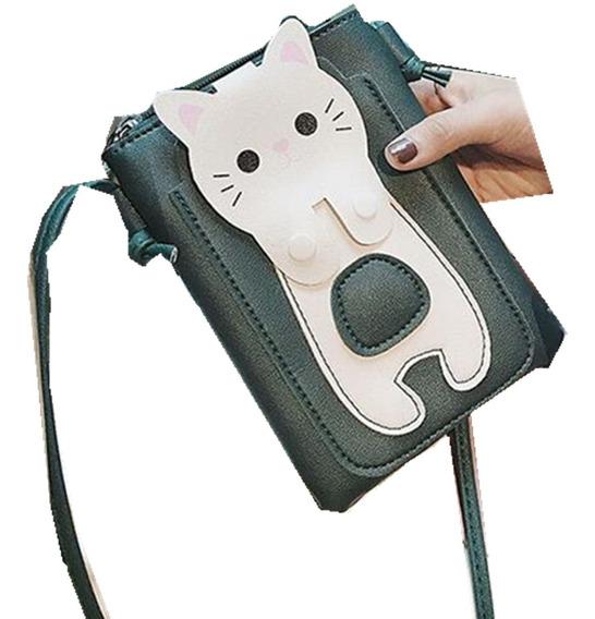 Mini Bolsa De Gato Para Celular Kawaii Envio Gratis