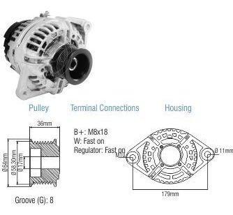Alternador Bosch Vw Cam Constelation Worker 90a 12v